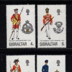 Sellos: GIBRALTAR 308/11** - AÑO 1974 - UNIFORMES MILITARES. Lote 243884155