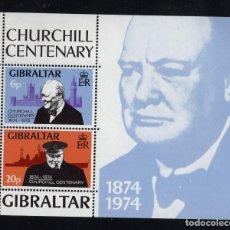 Sellos: GIBRALTAR HB 1** - AÑO 1974 - CENTENARIO DEL NACIMIENTO DE WINSTON CHURCHILL. Lote 244555120