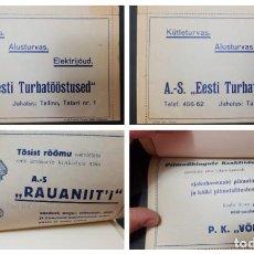 Sellos: O) 1937 ESTONIA, ELECTRICIDAD, LETTER CARD, PRIVADO, IMPRIN SEERIA, BANCO NACIONAL DE ESTONIA, CUT P. Lote 244747670