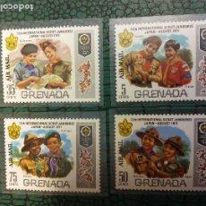 Sellos: SELLOS. JAMBOREE SCOUT. GRENADA. INTERNATIONAL SCOUT 1971. Lote 245426770
