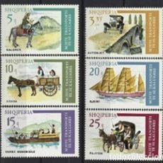 Sellos: ALBANIA 1975 - HISTORIA DEL TRANSPORTE, S.COMPLETA - MNH**. Lote 245752895