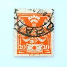 Sellos: SELLO POSTAL CHECOSLOVAQUIA 1920, 20 H, PALOMA , TYPE II, USADO. Lote 251586975