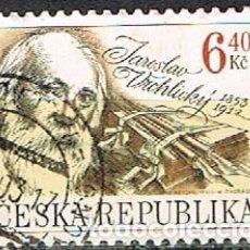 Sellos: REPUBLICA CHECA Nº 347, JAROSLAV VRCHLICKY, 1853-1912. POETA, USADO. Lote 254028380