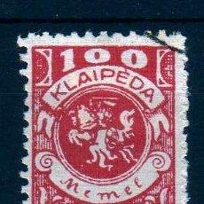 Sellos: GIROEXLIBRIS.- MEMEL, KLAIPEDA, LITUANIA 1923, MICHELNR:180 III O, CON SELLO, VALOR DE CATÁLOGO € 30. Lote 254520960