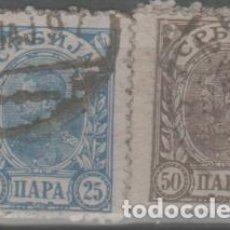 Sellos: LOTE T-SELLOS SERBIA AÑO 1902. Lote 257389860