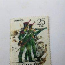Sellos: SELLO 25 PTS N33 INFANTERIA LIGERA 1976. Lote 260776550