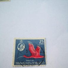Sellos: SELLO 25 CENTS SCARLET IBIS TRINIDAD & TOBAGO. Lote 261942045