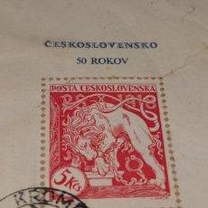 Sellos: CHECOSLOVAQUIA. H.B. Nº 36º - CINCUENTENARIO DE LA NACIÓN. Lote 262872090