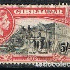 Sellos: GIBRALTAR 117 (AÑO 1938), CASA DEL GOBERNADOR, USADO. Lote 263722950