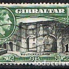 Sellos: GIBRALTAR 115 (AÑO 1938), PUERTA DE SOUTHPORT, USADO. Lote 263723380
