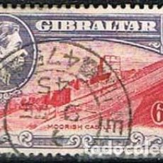 Sellos: GIBRALTAR 114 (AÑO 1938), CASTILLO ÁRABE, USADO. Lote 263724885
