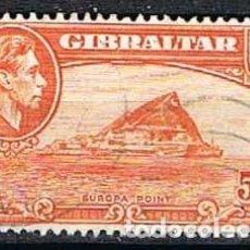 Sellos: GIBRALTAR 113 (AÑO 1957), EUROPA POINT, USADO. Lote 263726235