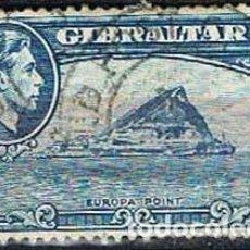 Sellos: GIBRALTAR 112 (AÑO 1938), EUROPA POINT, USADO. Lote 263726440