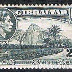 Sellos: GIBRALTAR 110 (AÑO 1938), ZONA NORTE DE LA ROCA, NUEVO CON SEÑAL DE CHARNELA. Lote 263727545