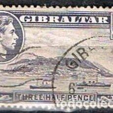 Sellos: GIBRALTAR 109 (AÑO 1938), VISTA DE GIBRALTAR, USADO. Lote 263727820