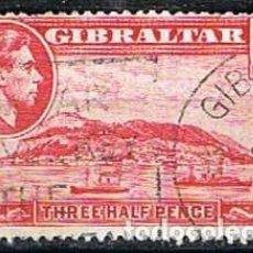 Sellos: GIBRALTAR 108 (AÑO 1938), VISTA DE GIBRALTAR, USADO. Lote 263727925