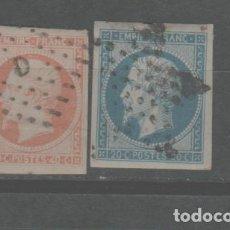 Sellos: LOTE(9) SELLOS FRANCIA NAPOLEON 1853-60 ALTO VALOR. Lote 264341992