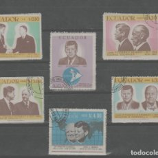 Sellos: LOTE (29) SELLOS ECUADOR TEMA KENNEDY. Lote 269115428