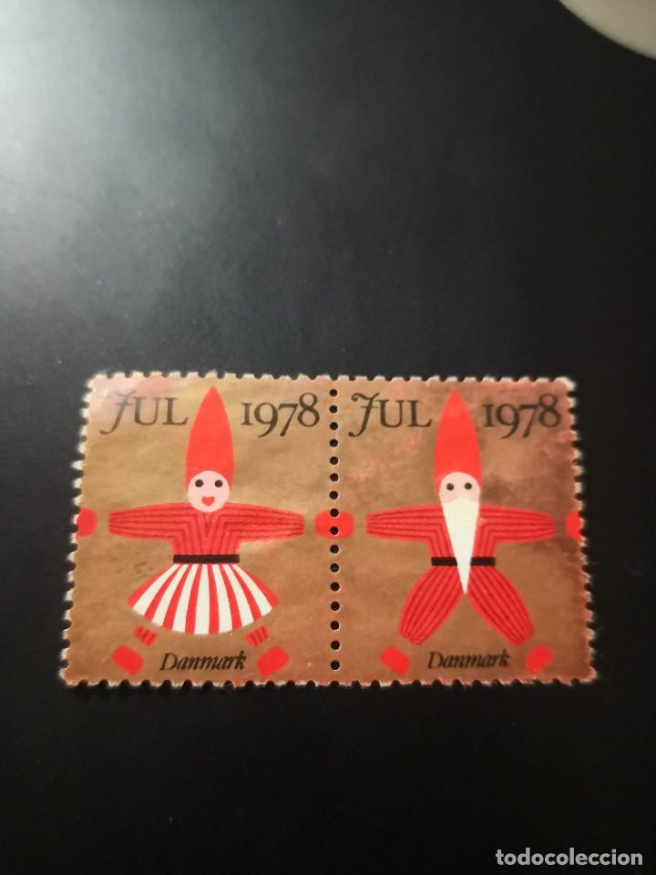 SELLO VIÑETAS DE DINAMARCA. NAVIDAD 1978. DOS VIÑETAS. (Sellos - Extranjero - Europa - Otros paises)