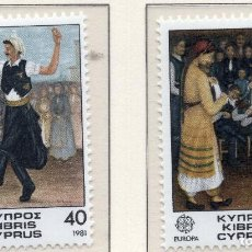 Sellos: CHIPRE, 1981 STAMP , MICHEL 547-548. Lote 270001983