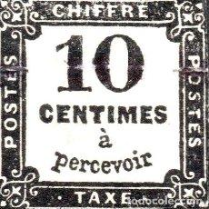 Sellos: FRANCIA ANTIGUO SELLO CIFRA USO EN TASA O IMPUESTOS ANO 1859. Lote 274514663