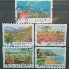 Sellos: SUECIA 2009 PARQUES NATURALES SERIE DE SELLOS USADOS. Lote 276782628