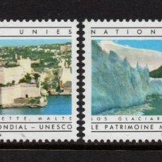 Sellos: NACIONES UNIDAS GINEBRA 122/23** - AÑO 1984 - PATRIMONIO MUNDIAL DE LA UNESCO. Lote 277517433