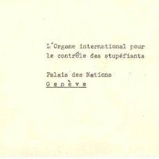 Sellos: CARTA CIRCULADA DE MINISTERSTVO ZDRAVOTNICTVÉ CESKE A PALAIS DES NATIONS GENÉVE. Lote 277528578