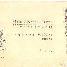 Sellos: CARTA CIRCULADA DE PRAHA A DDR EN 1965. Lote 277529003