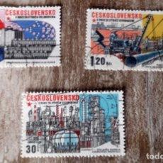 Sellos: CHECOSLOVAQUIA 3 SELLOS USADOS 1945-1975 INDUSTRIA CIENCIA QUIMICA. Lote 277565803