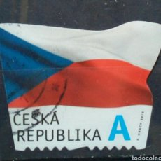 Sellos: REPÚBLICA CHECA 2015 BANDERA NACIONAL SELLO USADO. Lote 278321938