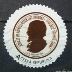 Sellos: REPÚBLICA CHECA 2014 CELEBRIDADES SELLO USADO. Lote 278322318
