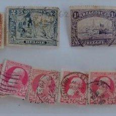 Sellos: LOTE 15 SELLOS ANTIGUOS BÉLGICA PRIMER CENTENARIO SIGLO XIX-XX. Lote 287105988
