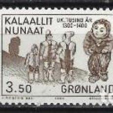 Sellos: GROENLANDIA 1983 - AÑO 1200 A 1500 EN GROENLANDIA, S.COMPLETA - MNH**. Lote 288384793