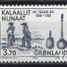 Sellos: GROENLANDIA 1984 - AÑO 1500 A 1800 EN GROENLANDIA, S.COMPLETA - MNH**. Lote 288384863