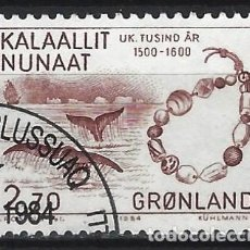 Sellos: GROENLANDIA 1984 - AÑO 1500 A 1800 EN GROENLANDIA - USADO. Lote 288384943