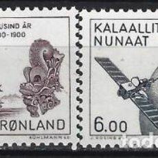 Sellos: GROENLANDIA 1985 - AÑO 1800 A 2000 EN GROENLANDIA, S.COMPLETA - MSG. Lote 288385118