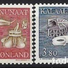 Sellos: GROENLANDIA 1987 - ETNOGRAFIA, S.COMPLETA - MSG. Lote 288385353