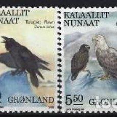 Sellos: GROENLANDIA 1988 - FAUNA, PÁJAROS, S.COMPLETA - MSG. Lote 288386628