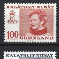 Sellos: GROENLANDIA 1977 - MARGARITA II, S.COMPLETA - MNH**. Lote 288388333