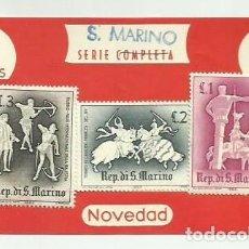 Sellos: LOTE DE 3 SELLOS DE SAN MARINO -. VER IMAGENES. Lote 289818258