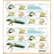 Sellos: ⚡ DISCOUNT UKRAINE 2007 WWF - PINK PELICAN MNH - BIRDS, PELICANS. Lote 289931203
