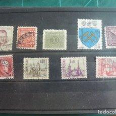 Francobolli: 9 SELLOS DE CHECOSLOVAQUIA. Lote 291892128