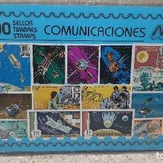 Francobolli: BLISTER SIN ABRIR, 100 SELLOS TIMBRES STAMPS COMUNICACIONES, FILATELIA.. Lote 294050813