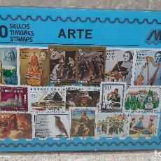 Sellos: BLISTER SIN ABRIR, 100 SELLOS TIMBRES STAMPS ARTE, FILATELIA.. Lote 294051323