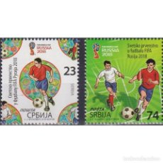Sellos: ⚡ DISCOUNT SERBIA 2018 FOOTBALL - FIFA WORLD CUP, RUSSIA MNH - FOOTBALL. Lote 295971933