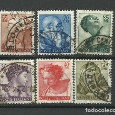 Sellos: ITALIA- - - SERIE COMPLETA 1961--USADO. Lote 296582473