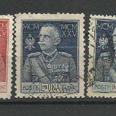Sellos: ITALIA- - - 1925 USADO - (SERIE COMPLETA). Lote 296586738