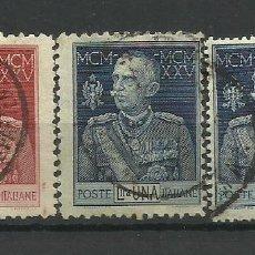 Sellos: ITALIA- - - 1925 USADO - (SERIE COMPLETA). Lote 296586813