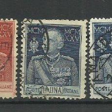 Sellos: ITALIA- - - 1925 USADO - (SERIE COMPLETA). Lote 296586903
